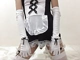 Serving the Black Dildo (Crossdresser maid with toy) (Short)