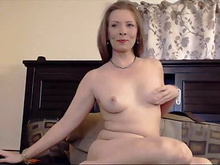Sweet cutie housewife plays with her sensitive pussy