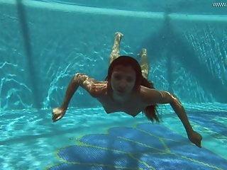 Irina Russaka strips nude within the swimming pool