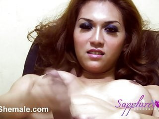 Stroking on Webcam with Sapphire Young