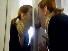 Redhead slut gloryhole