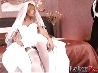 Blonde bride loves being a lesbo backside bitch for her woman