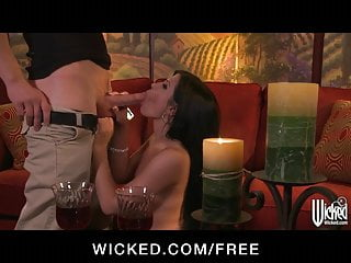 Horny young ass slutty brunette rides dick...