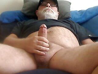 Bear Dad on Webcam