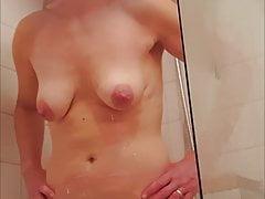Sexy MILF in shower.