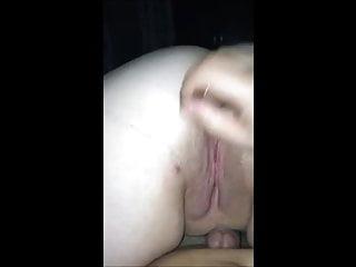 Dildoing her huge ass dildo her...