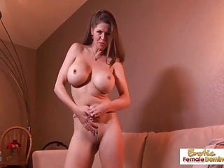 Milf strips and rides a big dick...