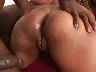 Black bbw anal threesome...