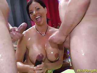 busty oiled Dacada german milf banged