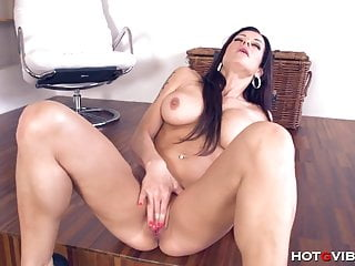 Crazy stacy silver is so horny she fucks...