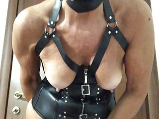 orgasm on Dog mask cam and