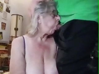 granny Big face fucked boobs gets