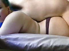 Brunette As Dry Lovemaking From Behind And Cumed On