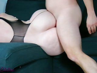 Stepmom in sexy lingerie seduces son...