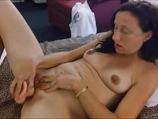 Granny lactating milky tits dildo...