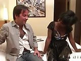 French black girl gets banged by a white guy