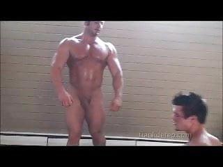 Twink vs bodybuilder wrestling...
