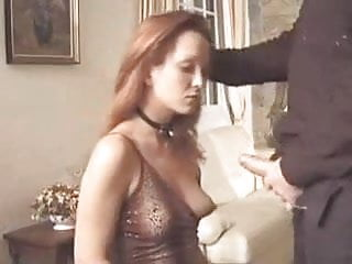Mature wife has to dress like a slut and get down for cum