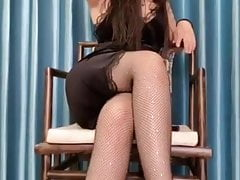 Asian girls woth long legs pantyhose and heels 11