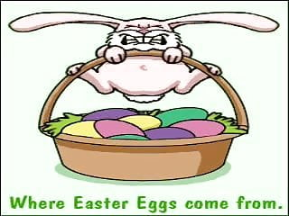 Come Do From? Eggs Easter Vintage  CartoonWhere