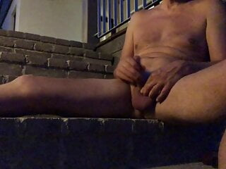 outdoor pissing at night