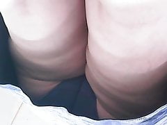 Upskirt Mature Mummy With Good-sized Cool Ass
