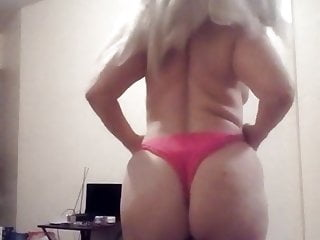 Sexy blonde hairy pussy ass...