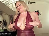 Curvy Cutie Maggie Green Self Worships Her Tits & Cums Hard!