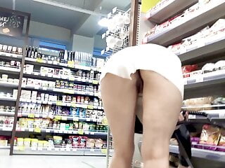 peep, I'm in the store today without panties.