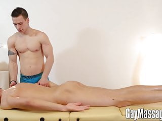 Horny young males turn massage into bareback fest...