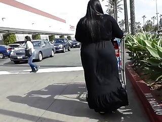 Goth bbw in black dress...
