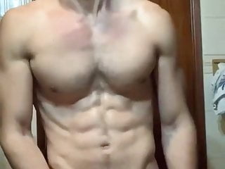 sexy male jerking off