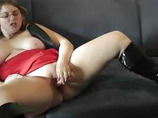 Chubby busty blonde toying and dirty talk...