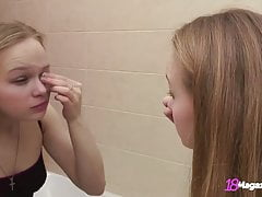 Wet Petite Bianca 19 Has A Private Moment In The Bathroom!