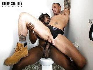 Ebony Devin Trez Gets His Cock Sucked Good At The Glory Hole