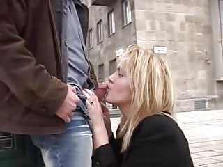 Girl Giving A Blowjob In Public