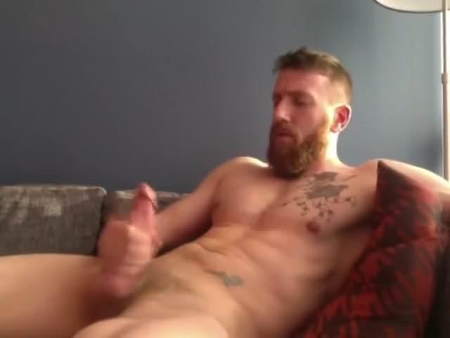 Jerking thumbs gay cock