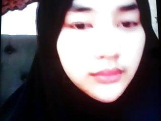 cute hijab girl jakrta for money in bigo wearing hijab