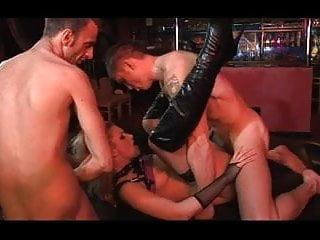 British Sluts DP In A Bar