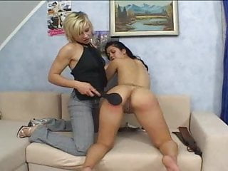 Exposing punishment spanking lesbian session and