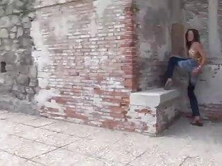Eroberlin Anita Pearl outdoor teen masturbate public pussy