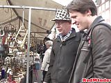 Fine Amsterdam hooker cumsprayed on camera