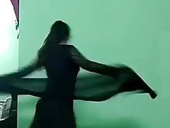 Ajina Menon Sexy Black Frock Tik Tok Actress 2