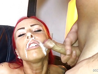 German redhead fuck older guy and let face...