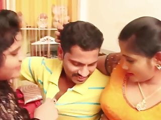 Aunty sex video two aunties with 1 man...
