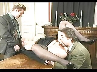 Blonde hard fucked from different guys...