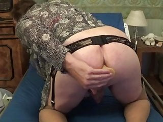 granny 22 dildo boobs anal lingerie  big mature nylon