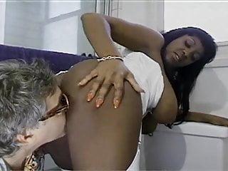 Busty ebony girls fucking a lucky...