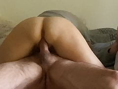 Amateur wife rides in front of camera - fuck me tiger