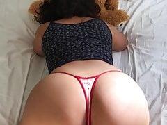 Arab Woman Sucking Teddy Bear